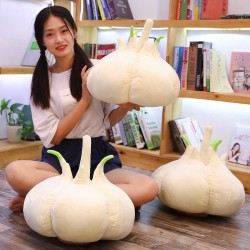 Garlic shaped pillow - plush toy - 40cm
