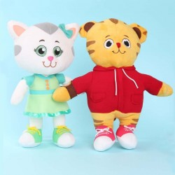 Tiger and kitten - plush dolls - toys - 2 pieces