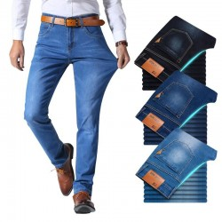 Denim jeans - slim pants - stretchable - with pockets
