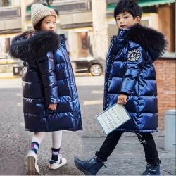 Warme dicke Jacke für Kinder - mit Pelzhaube - wasserdicht