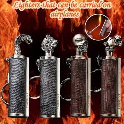 Metalen aansteker met sleutelring
