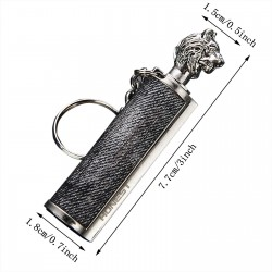 Metal lighter with a key ring