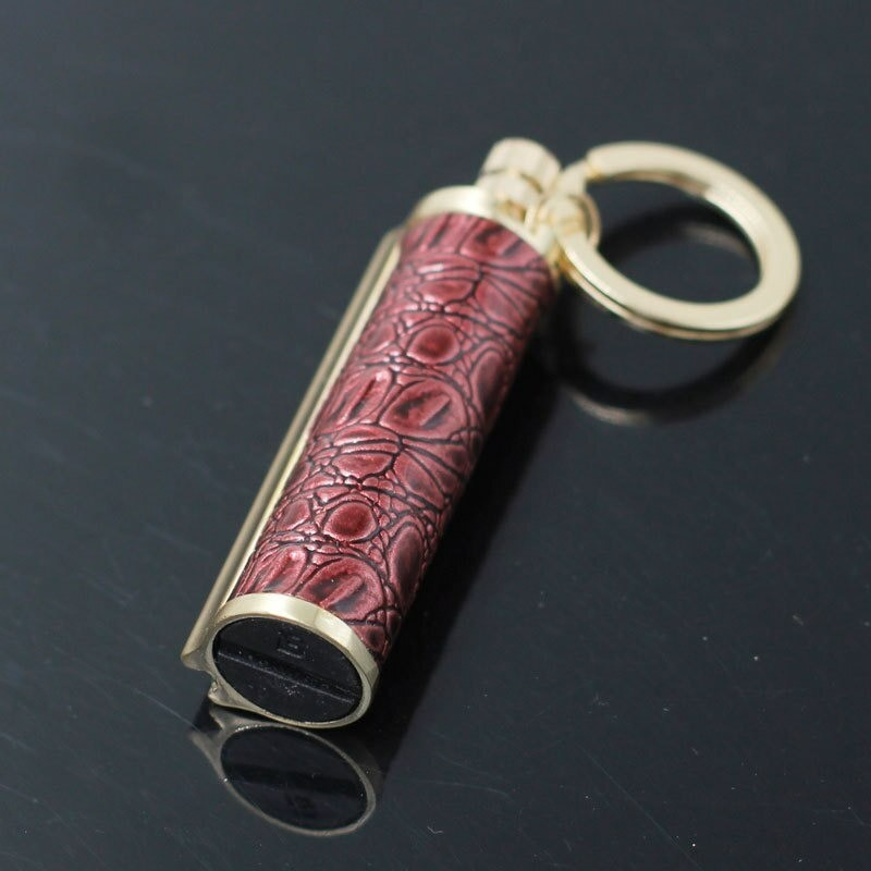 Vintage metal lighter - kerosene oil - with keyring