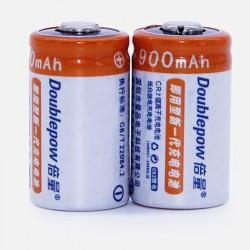 CR2 - 3V - 900mAh - LiFePO4 - battery - rechargeable