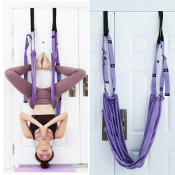Aerial yoga - elastic rope - for stretching / splits practice