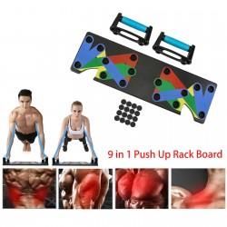 9 in 1 - push ups rek - uitklapbare plank - trainer voor buikspieren / borst / spieren