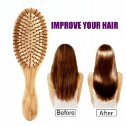 Wooden hair comb - anti-static - scalp massage