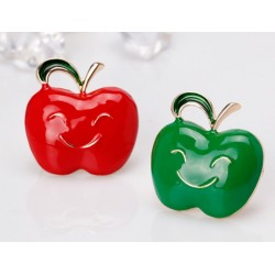 Apple with a smiling face - brooch