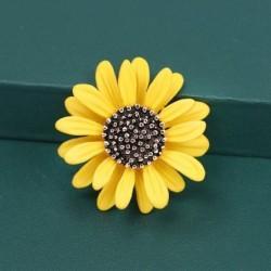 Sunflower - metal brooch