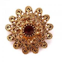 Vintage crystal flowers -...