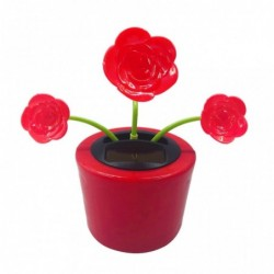 Solar rose flower car decoration