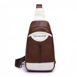 Fashionable backpack - leather crossbody bag