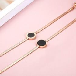 Rose gold bracelet - black...