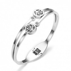Elegant bracelet - with crystals / tree of life pattern