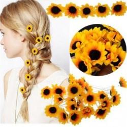 Sunflower - hair pin - 10 pieces
