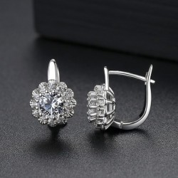 Flower shaped - stud earrings