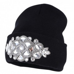 Knitted beanie - with...