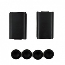 Battery back cover - for Xbox 360 controller - with 4 silicone thumbsticks cap cover