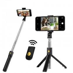 3 in 1 selfiestick - draadloos - Bluetooth - opvouwbare handheld monopod - statief - met afstandsbediening