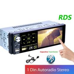 Autoradio - 1 Din - RDS - microfoon - USB - MP3 - MP5 - TF - ISO - multimediaspeler in het dashboard