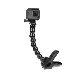 Jaws flex clamp mount - with flexible adjustable gooseneck - for GoPro Hero - Sjcam Yi 4K
