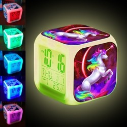 Cube shaped clock with...
