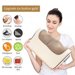 Elektrisch massagekussen - infrarood verwarming - nek / schouders / rug