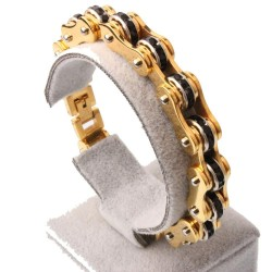 Motorcycle chain - bracelet - with crystals - unisex