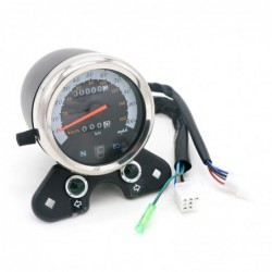 Dual motorcycle speedometer - universal - with LED indicator