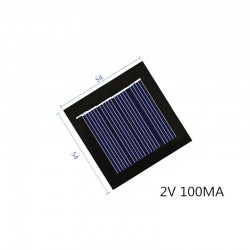 Mini solar panel - 2V 100MA - for rechargeable 1.2V battery - with DC small motor