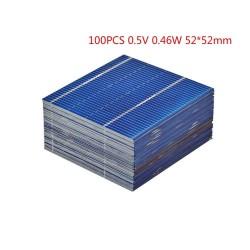 Zonnepanelen - voor het opladen van telefoons / batterijen - 0,5V - 0,46W - 52 * 52 mm - 100 stuks