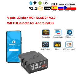 Car scanner / diagnostic tool - Bimmercode - MC / ELM327 - WiFi / Bluetooth - OBD2 - for Android / IOS