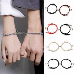Magnet lock bracelets - for couples - adjustable - 2 pieces