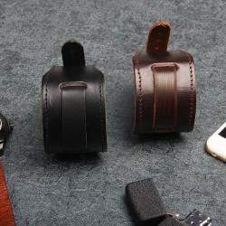 Brede armband van echt leer - verstelbare gesp