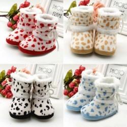 Warme baby/pasgeboren schoenen - antislip - met verstelbare riem