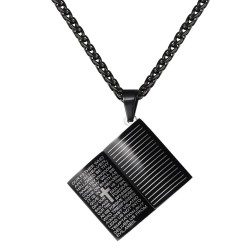 Holy Bible necklace - stainless steel