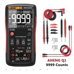 Q1 - digitale multimeter - 9999 counts - analoge tester - true RMS / NCV - met LCD-display