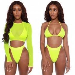 Swimwear for women 2021 - long sleeve  - three piece sets - neon colors