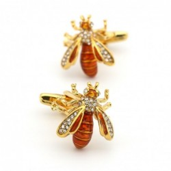 Golden wasp - brass cufflinks