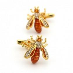 Gouden wespen - manchetknopen van kristal
