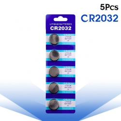 3V BR2032 DL2032 ECR2032 CR2032 Lithium cell battery - button batteries - 5 pieces