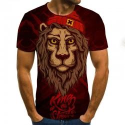 Modern t-shirt met korte mouwen - met 3D dierenprint