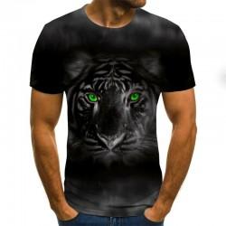 Trendy t-shirt met korte mouwen - met 3D abstracte print - punkstijl