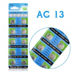 AG13 - 1.55V - alkaline cell battery - 10 pieces