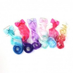 Colorful hair extensions - metal hair clip with bow
