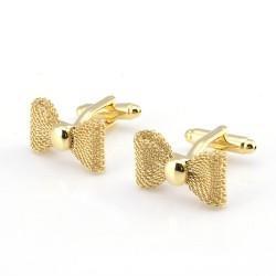 Bow-knot shaped - metal cufflinks