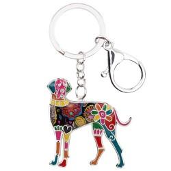 Great dane - enamel dog - metal keychain