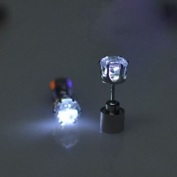 Small earring - with LED - stainless steel - 1 piece
