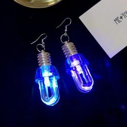 Bulb shaped earrings - with LED light