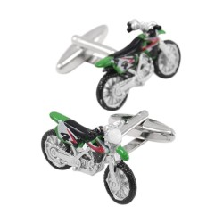 Fashionable cufflinks with motorcycle